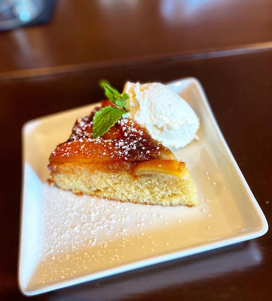 Tipsy Bourbon Peach Crisp with Wildflower Honey Vanilla Sauce